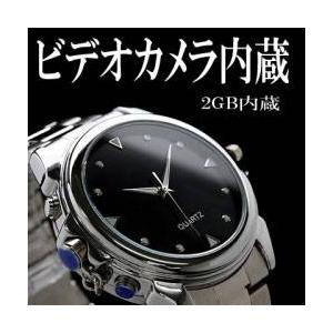 【小型カメラ】クールな腕時計型 カメラレ&ビデオ 2GB内蔵 [CL-01] - 拡大画像