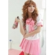 コスプレ 大きいリボンの女子制服 セーラー服 ピンク - 縮小画像1
