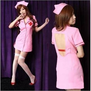 コスプレ ピンク看護婦のナース コスチューム 制服 - 拡大画像