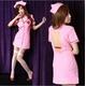 コスプレ ピンク看護婦のナース コスチューム 制服 - 縮小画像1