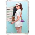 コスプレ 白の看護婦のナース服 制服 背中セクシー