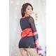 コスプレ 赤×黒の豪華着物 浴衣 和物 袖シースルー - 縮小画像2