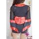 コスプレ 赤×黒の豪華着物 浴衣 和物 袖シースルー - 縮小画像4