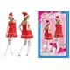 【サンタクロース コスプレ 衣装】ベビードール サンタ【帽子、ベビードールワンピ、ショーツ3点セット】クリスマスコスプレ - 縮小画像1