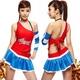 コスプレ *赤×ブルーのミニスカチアガール*レースクイーン - 縮小画像1