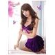 ランジェリー キラキラ紫のブラ&Tバック&スカート・ランジェリー - 縮小画像2