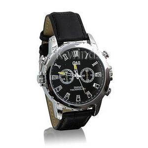 防水腕時計型ビデオカメラ (Cレザー) - 拡大画像