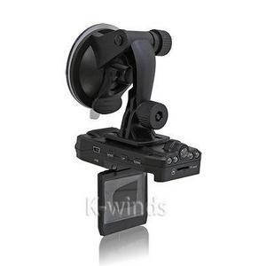2画面モニター&前後レンズ付き120度広角暗視撮影車載カメラ - 拡大画像