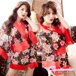 赤い帯着物 コスプレ 浴衣 【4043】