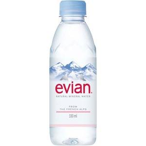 【まとめ買い】ミネラルウォーター エビアン(evian)ペットボトル330ml×48本セット - 拡大画像