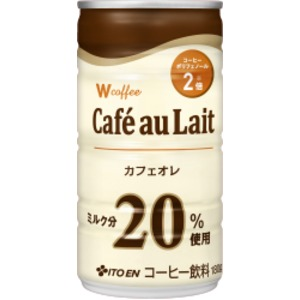 【ケース販売】伊藤園 Wコーヒー カフェオレ 190g×60本セット まとめ買い - 拡大画像