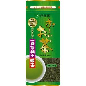 【ケース販売】伊藤園 お〜いお茶 一番摘み緑茶【100g×10本セット】 まとめ買い - 拡大画像