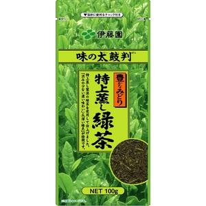 【ケース販売】伊藤園 味の太鼓判 特上蒸し緑茶500【100g×20本セット】 まとめ買い - 拡大画像