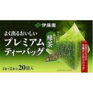 伊藤園 よく出るおいしいプレミアムティーバッグ緑茶【20袋×16本セット】 - 拡大画像