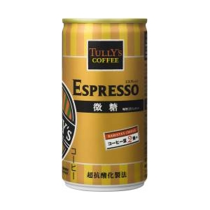 TULLY'S ESPRESSO 微糖 190ml×60本セット - 拡大画像