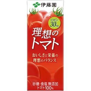 【ケース販売】伊藤園 紙理想のトマト200ml 【×48本セット】 - 拡大画像
