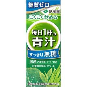 【ケース販売】伊藤園 紙毎日1杯の青汁無糖200ml 【×48本セット】 - 拡大画像