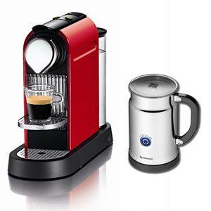 ネスレ ネスプレッソコーヒーメーカー レッド Nespresso CitiZ(シティズバンドルセット)[ C110RE-AOP ] - 拡大画像