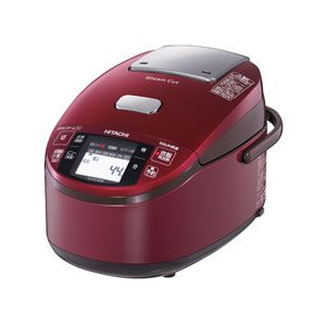日立 IHジャー炊飯器(5.5合炊き) メタリックレッド HITACHI 蒸気カット 極上炊き 圧力&スチーム[ RZ-KV100K-R ] - 拡大画像