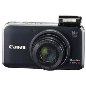 キヤノン ◇デジタルカメラ(ブラック) [ PS-SX210IS-BK ] - 拡大画像