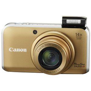 キヤノン ◇デジタルカメラ(ゴールド) [ PS-SX210IS-GL ] - 拡大画像