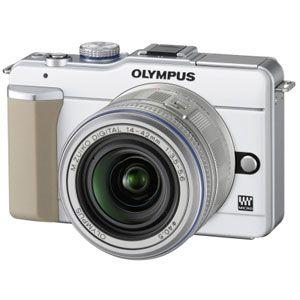 オリンパス マイクロ一眼カメラ OLYMPUS PEN Lite「E-PL1レンズキット」ホワイト[ E-PL1レンズキツト(ホワイト) ] - 拡大画像