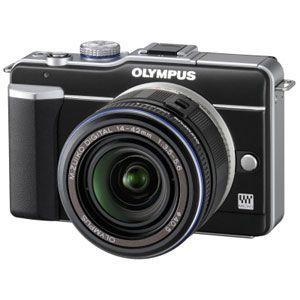 オリンパス マイクロ一眼カメラ OLYMPUS PEN Lite「E-PL1レンズキット」ブラック[ E-PL1レンズキツト(ブラツク) ] - 拡大画像