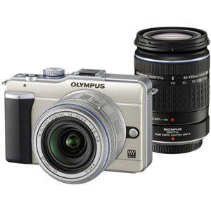 オリンパス マイクロ一眼カメラ OLYMPUS PEN Lite「E-PL1ダブルズームキット」シャンパンゴールド[ E-PL1 WZKIT(ゴ-ルド) ] - 拡大画像