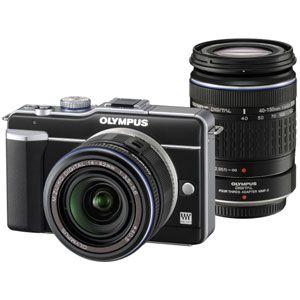 オリンパス マイクロ一眼カメラ OLYMPUS PEN Lite「E-PL1ダブルズームキット」ブラック[ E-PL1 WZKIT(ブラツク) ] - 拡大画像