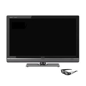 SHARP 40V型地上・BS・110度CSデジタルフルハイビジョン液晶テレビ AQUOS クアトロン3D[ LC-40LV3 ] (3Dテレビ) - 拡大画像