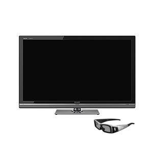 SHARP 60V型地上・BS・110度CSデジタルフルハイビジョン液晶テレビ AQUOS クアトロン3D[ LC-60LV3 ] (3Dテレビ) - 拡大画像