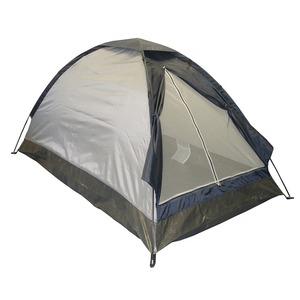 2人用ドーム型テント(ブルーシートつき)グレー - 拡大画像