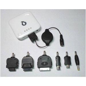 Q-Power FC6-B-WH ポータブル充電池 ★ iPhone iPod ドコモXPERIA/GALAXY PSPにも対応可能! (ホワイト) - 拡大画像