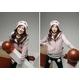 【大きいサイズ レディース】ボンボン付き超かわ人気セーター★ピンク - 縮小画像3
