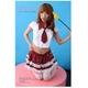 コスプレ 【学生服】 裾白レース添え赤チャックスカートの女子制服コスプレ - 縮小画像1