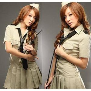 コスプレ ネクタイ付ワンピース風セーラー服  婦警 5325 - 拡大画像