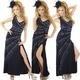 ドレス セクシースリットきらきらロングドレス 黒 - 縮小画像1