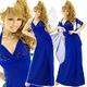 ドレス 胸元スタッツショール付きロングドレス ロイヤルブルー - 縮小画像1