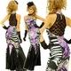 ロングドレス 背中セクシーレース ラインストーン付き パープル - 縮小画像1