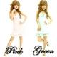 キャバ 嬢 ドレス 花柄レースリボン ミニドレス グリーン - 縮小画像1