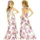 キャバ ドレス 放射スパンコールクリアビジュ流れるフラワーペイズリー柄サテンプリーツロングドレス パープル  - 縮小画像2