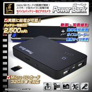 【小型カメラ】モバイルバッテリー型ビデオカメラ(匠ブランド)『Power Bank』(パワーバンク)2013年モデル - 拡大画像