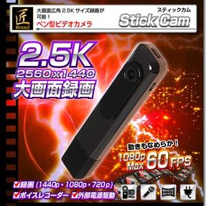 【小型カメラ】ペン型ビデオカメラ(匠ブランド)『Stick Cam』(スティックカム) - 拡大画像