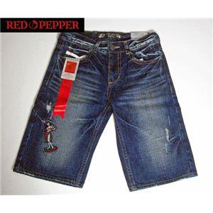 red pepper(レッドペッパー) メンズデニム(メンズ) デニム ハーフパンツ #8822 29インチ - 拡大画像