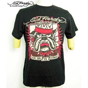 ed hardy(エドハーディー) メンズTシャツ Basic King Dog ブラック S - 拡大画像