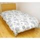 昭和西川 フランス産ダウン 90%国産超長綿羽毛布団 シングルロング ブルー - 縮小画像2