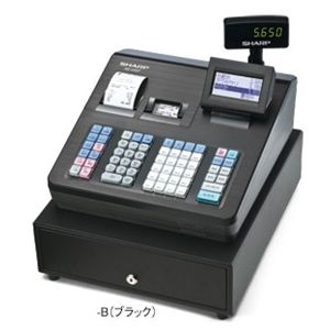 【業務用】シャープ(SHARP) レジスター 本体 XE-A407ブラック【ロールペーパー10巻セット】