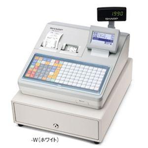 【業務用】シャープ(SHARP) レジスター 本体 XE-A417ホワイト【ロールペーパー10巻セット】 - 拡大画像