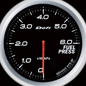 Defi-Link Meter ADVANCE BF (デフィー リンクメーター アドバンスBF) 燃圧計 60φ ホワイトモデル - 拡大画像