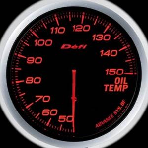 Defi-Link Meter ADVANCE BF (デフィー リンクメーター アドバンスBF) 油温計 60φ アンバーレッドモデル - 拡大画像